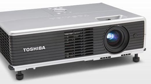 Toshiba TLP-WX100U Slim Mobile Projector With CC Launched